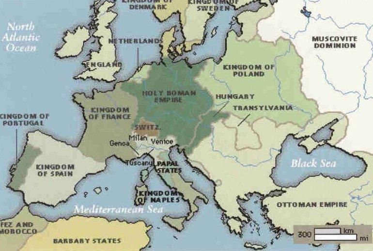 MapEurope1500-1700